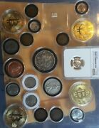 Junk Drawer Coins Lot, 21 Pieces Total Grandfather Junk Drawer