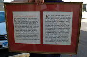 + A Prayer Of Simon On The Contemplative +framed Calligraphy+ Chalice Co. 993