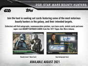 2021 Topps Star Wars Bounty Hunters Factory Sealed 12 Box Hobby Case Pre Sale -