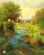 G. Harvey Hill Country Spring Artistand039s Proof On Paper