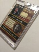 John F Kennedy Rare Martin Luther King Jr. Dual Signed Freedom Document Patch S