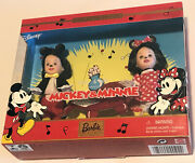 2002 Disney Kelly And Tommy Dressed As Mickey And Minnie Mouse Barbie Retired