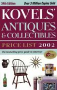 Kovel Antiques And Collectibles Prices 2002 34th Edition ... By Kovel Ralph Book