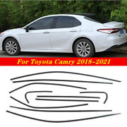 Carbon Fiber Steel Car Window Strip Cover Trim10 Fit For Toyota Camry 2018-2021