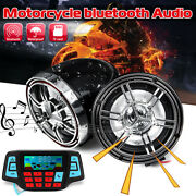 3and039and039 Bluetooth Motorcycle Handlebar Audio System Fm Radio Mp3 Player Speakers 12v