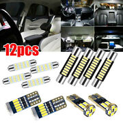 12pcs Car White T10 Led Interior Light Package Kits Fit For Ford F-150 2009-2014