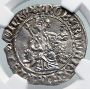 1309-43 Italy Naples King Robert Dand039anjou Antique Medieval Silver Coin Ngc I90709
