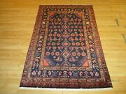 3'7x5'7 Persian Abc Collection Handmade Knotted Wool Rug 586207