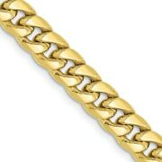 Menand039s 6mm 10k Yellow Gold Hollow Cuban Curb Chain Necklace
