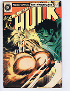 L'incroyable Hulk 40 Heritage French /canadian 1st Appearance Wolverine Bandw
