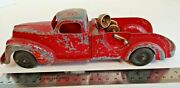 Vintage Hubley Kiddie Toy No 474 Tow Truck For Parts Or Repair 13945