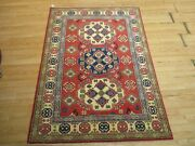 3'11 X 5'6 Afghan Refugee Abc Collection Handmade-knotted Wool Rug 586217