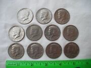 Lot Of 11, 1971 Kennedy Half Dollar Coin, Liberty, Eagle, United States America