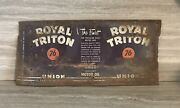 Vintage Union 76 Royal Triton 1 Qt Oil Can/california Oil Co/flattened Barn Roof