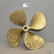 Brass Prop 22 Lh 22 Collectible Boat Propeller Four Blade Vintage 26 Lbs P1