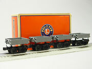 Lionel Gray Disconnect Side Dump Car 4 Pack O Gauge Rolling Stock 2026010 New