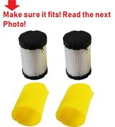 2 Pack For Briggs And Stratton Engine And Lawn Mowers Listed Air Filters Foam Cleane