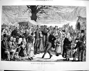 Old Antique Print 1879 State Ireland Making The Best It Dancing Tavern 19th