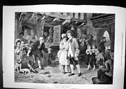 Antique Print Sally In Our Alley Es Kennedy Young Couple Dressed Best 1884 19th