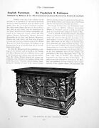 Antique Old Print English Furniture Reviewed Oak Chest Late C16thpage 1906