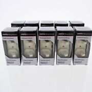 10 Cooper Almond Double Toggle Duplex Wall Light Switches 15a Single Pole 271a