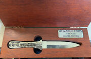 Case Lebowitz Usmc Vietnam Boot Knife In Box Limited Edition 87