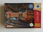 Box Only - Nintendo 64 N64 Authentic - Turok 2 Seeds Of Evil Asian Version Rare