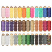 Leather Sewing Thread Set 55 Yards 150d/1mm Flat Waxed Cord 36 Colors In 1 Set