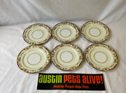 Gold China Made In Occupied Japan, 6 Six Bread Plates, 6.25