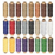 Leather Sewing Thread Set 55 Yards 150d/1mm Flat Waxed Cord 24 Colors In 1 Set