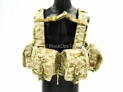 1/6 Scale Toy Us Navy Seal Team 8 - Gunner - Aor-1 Camo Large Chest Rig