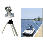 Dock Edge 3120-f Economy Mooring Whips 12ft 4000 Lbs Up To 23 Ft