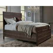 Townsend Solid Wood Panel Bed In Java Brown California King