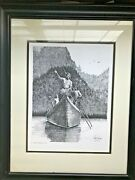 Gary Simmons 1976 - Original Pen And Ink Drawing Signed