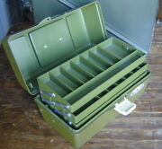 Vintage Old Pal 1060 Fishing Tackle Box 3-tray Usa For Lures And Bait Nice