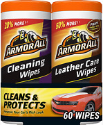 Armor All Car Cleaning And Leather Wipes - Interior Cleaner For Cars Truck M