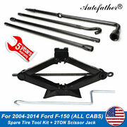 For 2004-2014 Ford F150 Spare Tire Jack Tool Kit Combo Pack And 2ton Scissor Jack