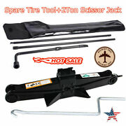 For 03-07 Ford F250 F350 F450 Spare Tire Tool Kit Lug Wrench Set+scissor Jack