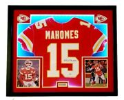 Patrick Mahomes Autographed Authentic Nike Game Jersey- Framed W/led's Fanatics