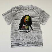 Vintage 90's Bob Marley One Love Jamaica T Shirt Size Small Aop