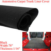 Black 78x50 Automotive Carpet Upholstery Fabric Trunk Liner Floor Replacement