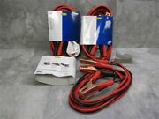 Lot Of 3 New 10 Gauge 12 Foot Car Battery Booster Jumper Cables - Copper Plated