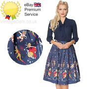 New Space 1950s Circle Skirt Space Planets Galaxy Sci-fi Inspired Print