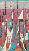 Abstract Moroccan Berber Oriental Area Rug Hand-knotted Plush Wool 10x15 Carpet