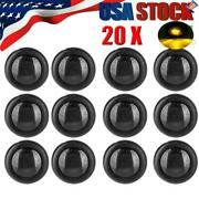 20x Clearance 3/4 Round Side Marker Led Light Smoked Amber Truck Rv Trailer