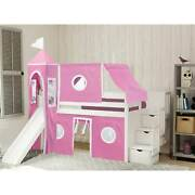 Jackpot And Princess Low Loft Bed Stairs And Slide Tent