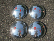 Set Of 1940 1950 1960 Ms Trailer Dog Dish Hubcaps Wheel Covers