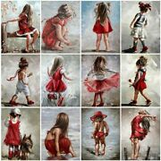 5d Diamond Painting Girl Black Red Cross Stitch Mosaic Embroidery Home Decors