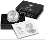 2021-w American Eagle Type 2 One Ounce Silver Proof Coin 21ean Lot Of 3