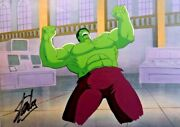Incredible Hulk Production Cel Hand Painted Signed Stan Lee H8 Marvel